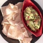 overhead guacamole with chips