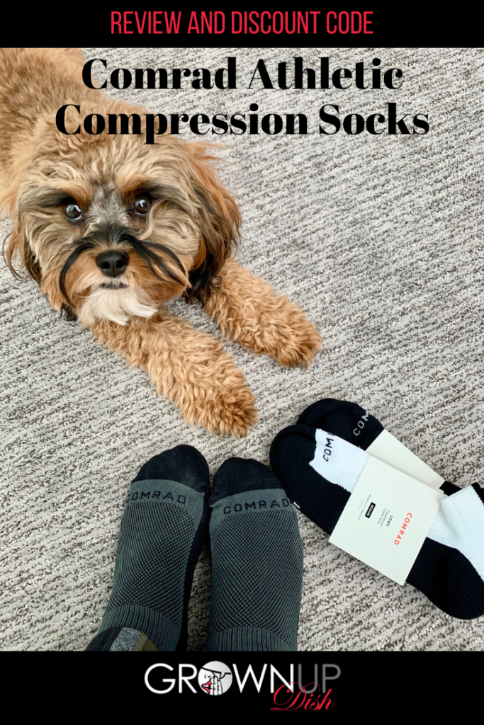Thanks to Comrad, compression socks have come a long way, baby! And guess what? They now look more department store than drugstore. And now they also make athletic socks. Review and discount code. | www.grownupdish.com #compressionsocks #comradsocks #comrad #socks #traveltips