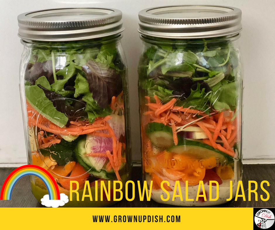 Rainbow Salad Jar – Meal Prep and Recipe
