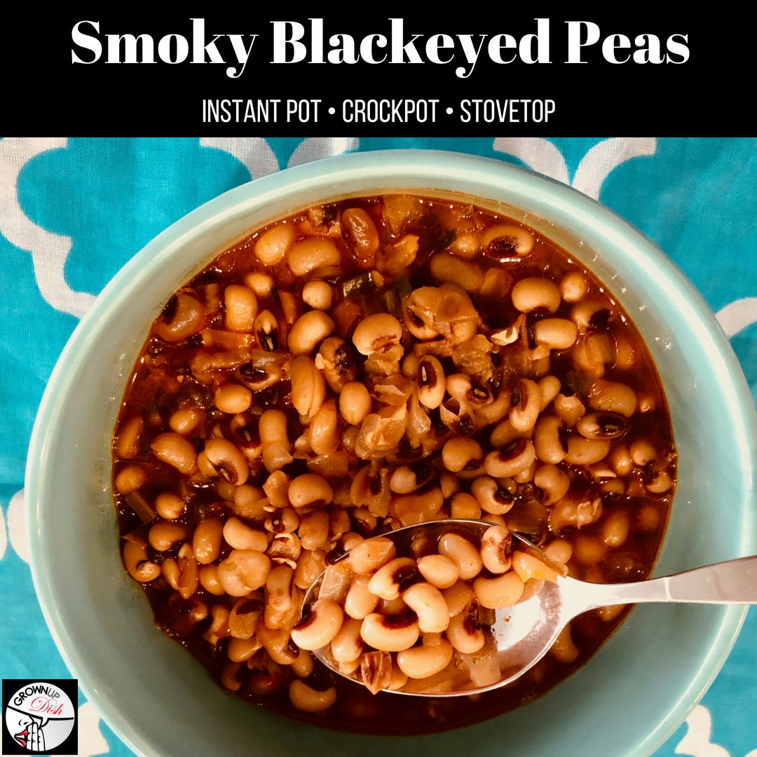 Instant Pot or Crockpot Smoky Blackeyed Peas