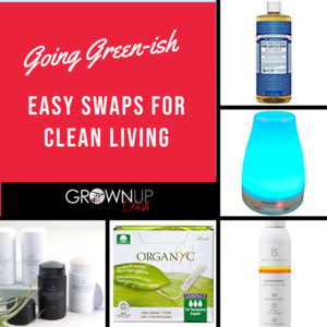 Here are my favorite beauty, clean living and green products for healthier, environmentally friendly home and beauty. Tell me YOUR favorite greener swaps! | www.grownupdish.com