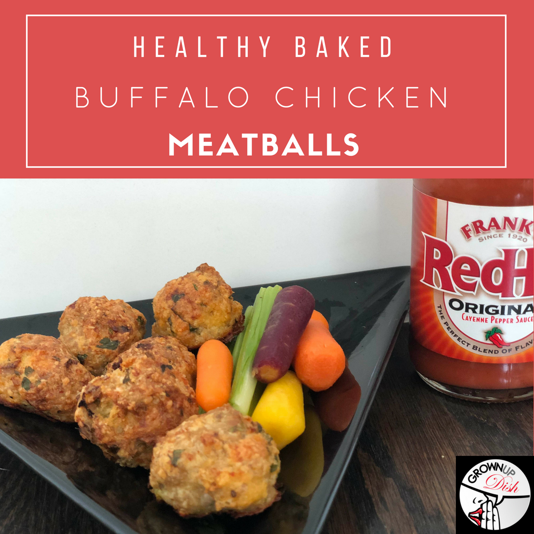 Healthy Baked Buffalo Chicken Meatballs