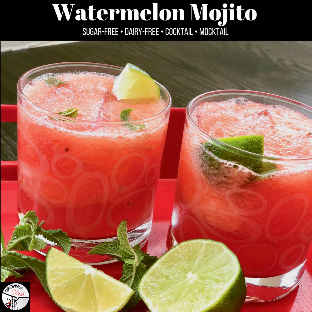 Watermelon Mojito Cocktail or Mocktail