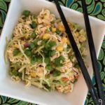 This cleaner version of the popular ramen noodle salad recipe is much healthier and still crispy and delicious. It's jam packed with veggies & healthy fats. | www.grownupdish.com