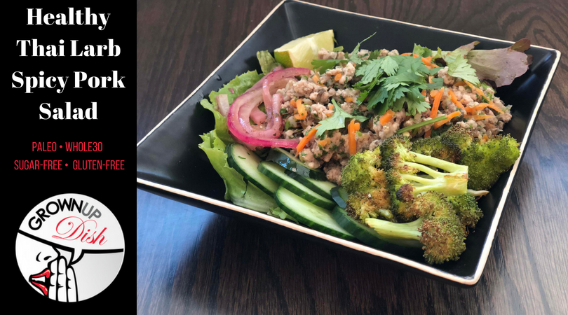 Thai Larb Spicy Pork Salad – Whole30 & Paleo