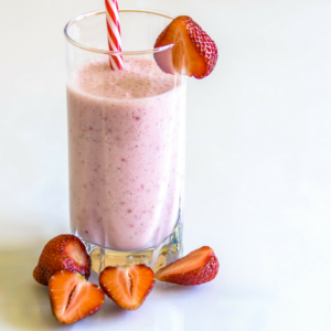 A creamy, dreamy Fab Four Smoothie recipe based on the classic PB&J (peanut butter and jelly) sandwich -minus the gluten, preservatives and processed junk.