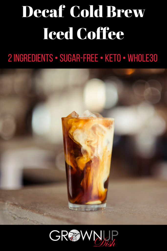 Make decaffeinated cold brew coffee at home with just two ingredients. It's rich, smooth, low-acid, calorie-free and it won't give you the caffeine jitters.