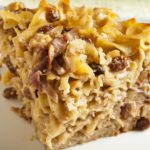 Traditionally served during the Jewish Holidays, noodle kugel is a delicious baked casserole. This recipe is gluten-free but still maintains many traditional elements. | www.grownupdish.com