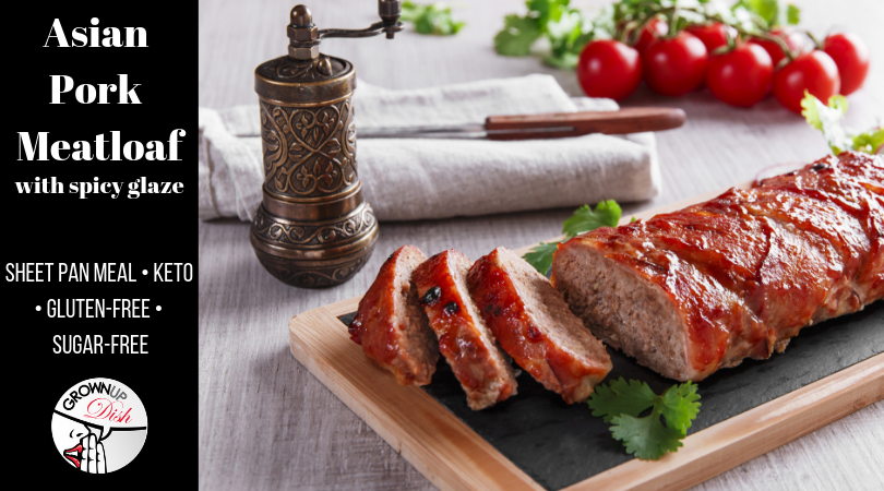 Asian Pork Meatloaf with Spicy Glaze