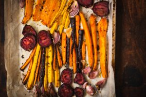 Smoky roasted carrots couldn't be easier, or more delicious. They're the ideal side dish for a quick and healthy weeknight dinner. Try this recipe today! | www.grownupdish.com
