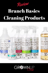 An unbiased review of Branch Basics cleaning products. Use the non-toxic concentrate as laundry detergent, hand soap or spray cleaner. And, it really works! | www.grownupdish.com