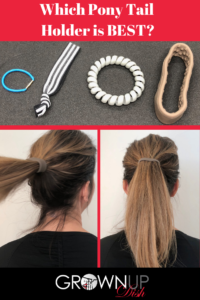 I've tried lots of ponytail holders but when I saw the Pony-O I had to try it and let you know if it was worth the $10 price tag. Here's my unbiased review. | www.grownupdish.com