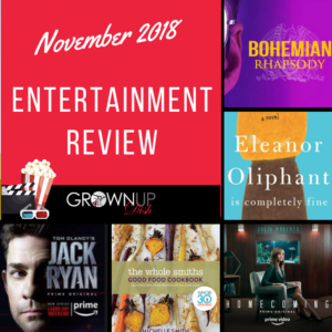 November 2018 entertainment review. Check out November's best and worst books, television and movies. Be sure to tell me your favorites in the comments. | www.grownupdish.com