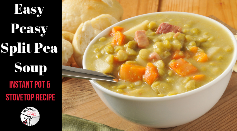 Easy Peasy Split Pea Soup – Stovetop or Instant Pot