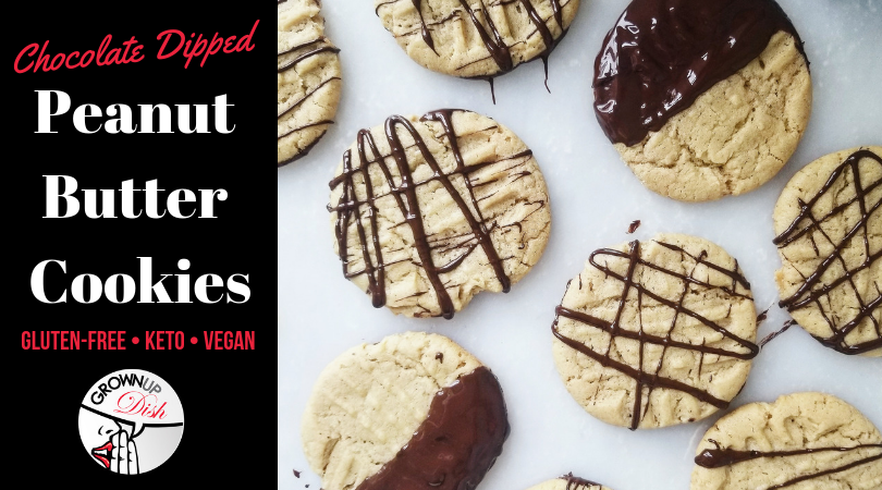 Chocolate Dipped Gluten-Free Peanut Butter Cookies