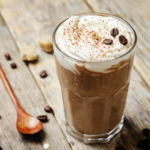 If you need a pick-me-up, try a Fab4 Mocha Smoothie. It's a delicious mashup of coffee and chocolate with no gluten, sugar, preservatives or processed junk. | www.grownupdish.com