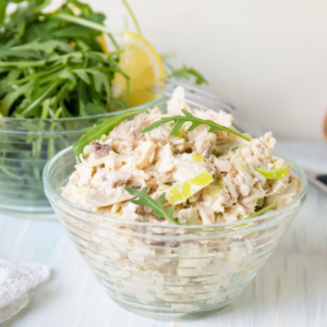Whole30 Curry Chicken Salad recipe is fancy enough for company but easy enough for everyday lunch or meal prep. And it's keto, sugar-free and gluten-free. | www.grownupdish.com