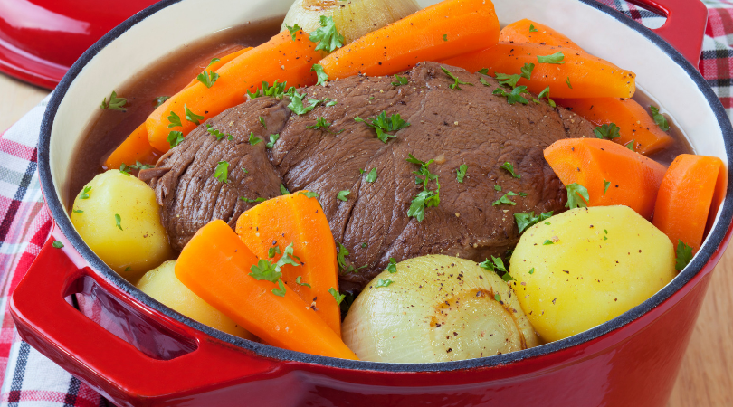 Healthy Slow Cooker Jewish Brisket is a taste-great, feel-good classic. It's sugar-free, gluten-free, keto, paleo & Whole30 compliant. | www.grownupdish.com