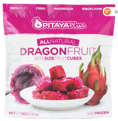 This Fab4 Pitaya Smoothie is an explosion of taste, texture, color and nutrition. It uses frozen pitaya (dragon fruit), collagen and greens. So yummy! | www.grownupdish.com