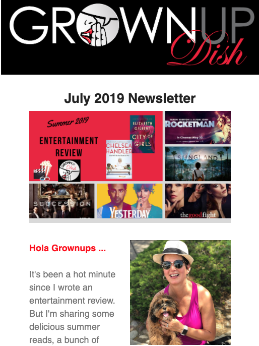 July 2019 Grownup Dish Newsletter