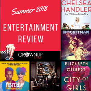 Summer 2019 entertainment review for grownups. Check out the hottest summer books, TV and movies. Be sure to tell me your favorites in the comments.