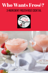 This not-too-sweet frosé is the perfect warm weather cocktail. With only three ingredients, it's refreshing, delicious and very easy to make. | www.grownupdish.com