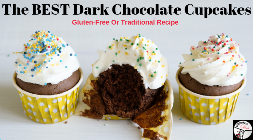 The BEST Dark Chocolate Cupcakes