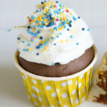 The BEST dark chocolate cupcake recipe! It's over-the-top delicious and can be made with gluten-free or all purpose flour. Top with whipped cream or your favorite frosting. | www.grownupdish.com