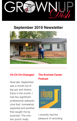 September 2019 Grownup Dish Newsletter