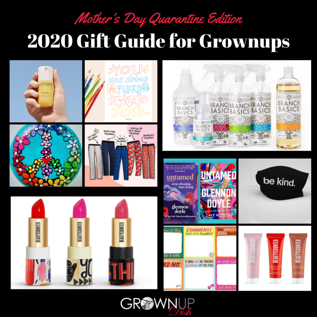 2020 Mother's Day Gift Guide for Grownups - favorite products & gift ideas for your favorite female (or for yourself). Discount codes & freebies too! | www.grownupdish.com
