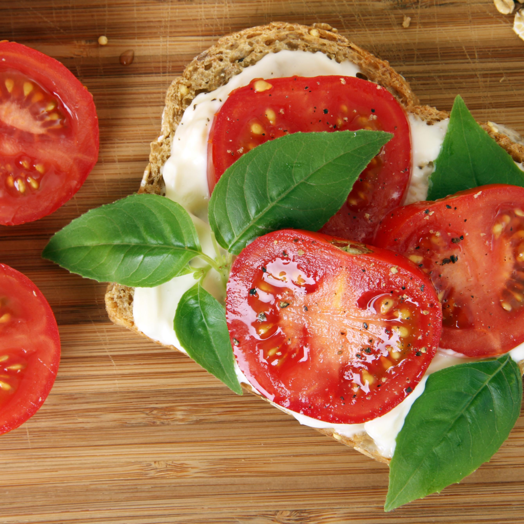 Tomato Sandwich for Grownups  - Have you tried the quintessential tomato sandwich? It's perfection: heirloom tomatoes don't need much help. Simple & delicious.| www.grownupdish.com