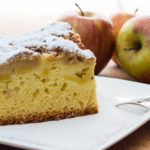 This light and fluffy buttermilk apple cake is a cross between a coffee cake and dessert. It's a yummy treat that isn't overly sweet.  www.grownupdish.com