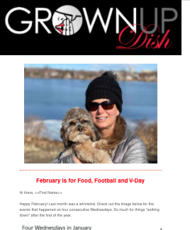 February 2021 Grownup Dish Newsletter
