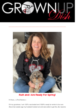 March 2021 Grownup Dish Newsletter