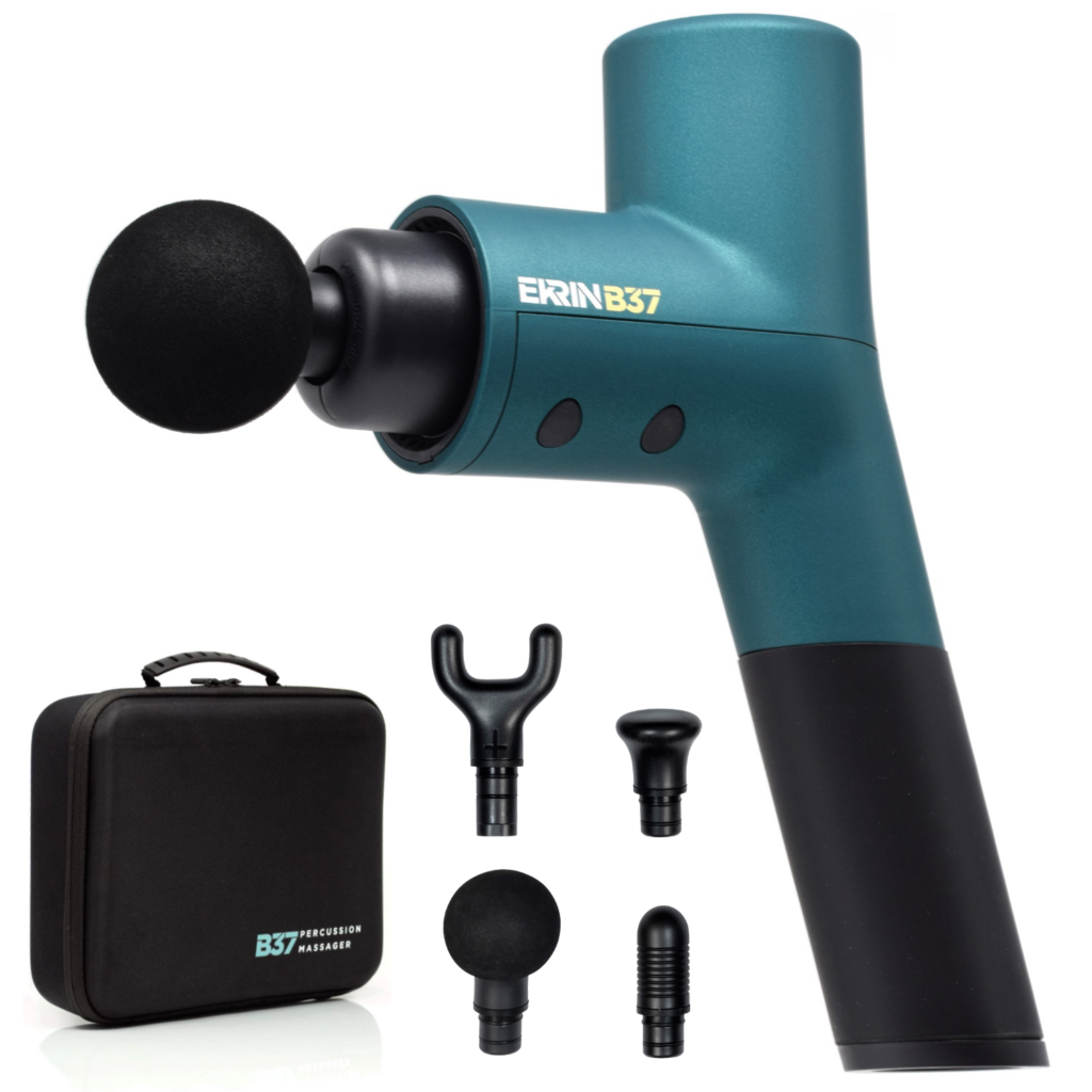 You don't need to spend $500+ on a massage gun. Discover the benefits of percussive massage & save 20% when you read my unbiased Ekrin review. | www.grownupdish.com