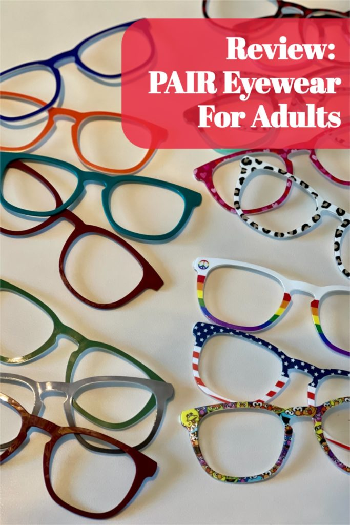 Review of Pair Eyewear interchangeable magnetic eyeglass frames for adults - an affordable way to change the look of your glasses. Use my discount code for 10% off. | www.grownupdish.com