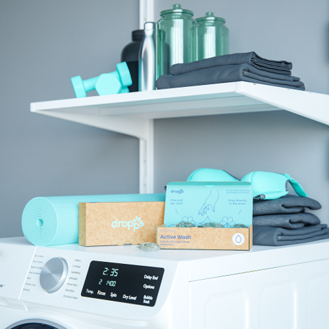 Do your workout clothes stink? Read my review of Dropps Active Wash Laundry Detergent Pods. Discount when you shop with my link.   www.grownupdish.com
